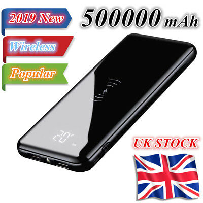 2019 Popular Qi Wireless Charger 500000mAh Power Bank External Battery Pack