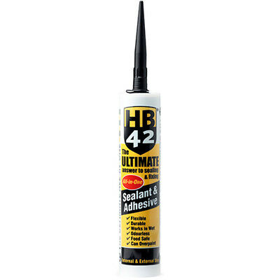 HB42 Ultimate Sealant Adhesive Black 310ml Cartridge Best in Class UK Supplier