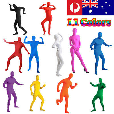 Party Costume Dress Invisible Morph suit Full Body Men Women Spandex New