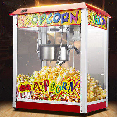 Popcorn Maker Machine 8 OZ Free Hot Air Commercial Electric Popping Corn Kernels