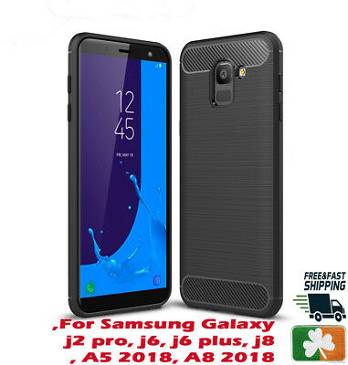 Brand NEW Rugged Armor Case For Samsung Galaxy J4 J6 J8 A5 Carbon Fiber Design