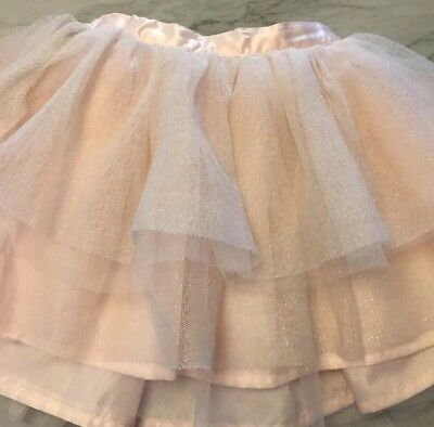 Janie And Jack 3t Girls Pink Tutu Skirt Glittery Chic Tulle