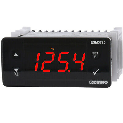 PID ON/OFF ESM Temperature Controller J K RTD Pt-100 PTC 2 Outputs 16A/5A 230V
