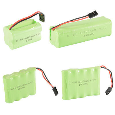 4.8V/6V/9.6V 2500mAh AA NI-MH Rechargeable Battery Pack for RC Futaba Hitec JR