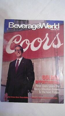 Beverage World Magazine Coors Brewery 1991