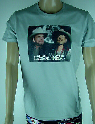 T-Shirt Willie Nelson & Merle Haggard Country Western bis 3XL