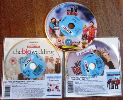 Blu Ray EX RENTAL THE BIG BANG THEORY S05 THE BIG WEDDING