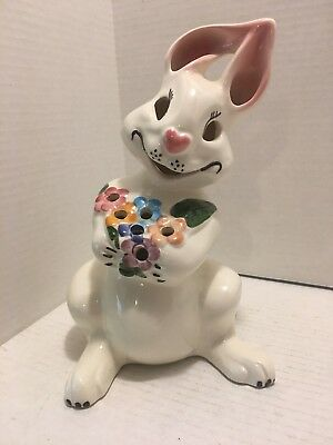 Beautiful Vintage McCoy Limited Hand Decorated Bunny Made in the USA
