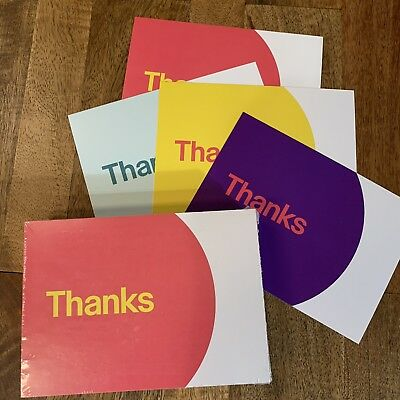 "eBay 100 Thank You Postcards Two Sides 4 Colors Glossy Package Inserts 5.5"" x 4"""