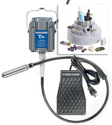 Foredom K.Tx300 Flexshaft Jewelers Kit 1/3 Hp 110v Tx300 with TX - TXR - #30