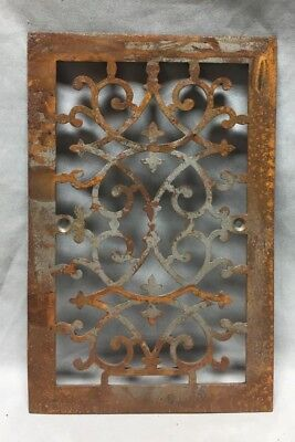 One Antique Rectangular Heat Grate Grill Decorative 8X12 695-18C