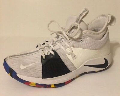 NIKE PG 2 March Madness Paul George NCAA White Size 10 Basketball Shoes f42b161e7