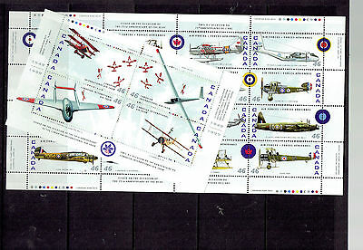CANADA 1807a &1808a RCAF Air Show sheetlets Souvenir sheet AIRPLANES AIR FORCE