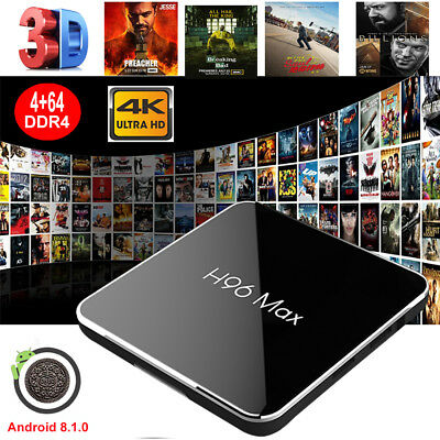 Newest H96 Max Android 8.1 4+64G S905X2 Quad Core TV Box WIFI 4K 3D Media Player
