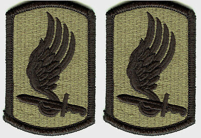 2 Pack U.S. Army 173rd Airborne Brigade OCP Hook Back Military Patches