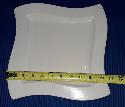 """New - Villeroy & Boch New Wave New Wave Dinner Plate 10 1/2"""" All White"""