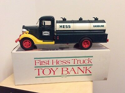 First Hess Truck Toy Bank With Original Box