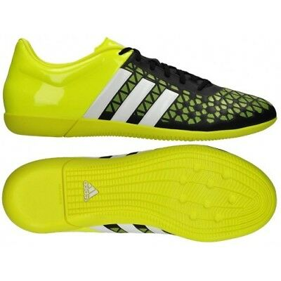 detailed look 7cd8f 1d16f ADIDAS ACE 15.3 IN Indoor Soccer Shoes (8) (Black/Solar Yellow) B27025