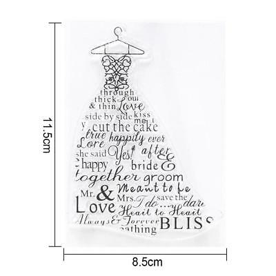 Wedding Dressing Transparent Silicone Clear Stamp Cling Seal Scrapbook Embossing