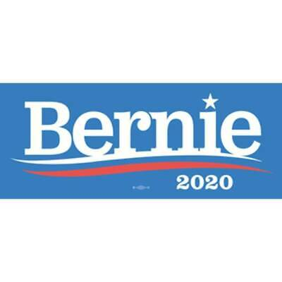 Bernie Sanders 2020 For President Blue Bumper Sticker Decal