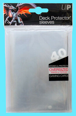 40 Ultra Pro OVERSIZED TOP LOADING CLEAR DECK PROTECTOR Sleeves MTG Commander