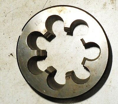 "M30 x 1.50 size OD 3"" (76MM) HSS round die button. CAPITAL"