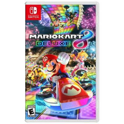 Brand New Mario Kart 8 Deluxe For Nintendo Switch !! Sealed !!