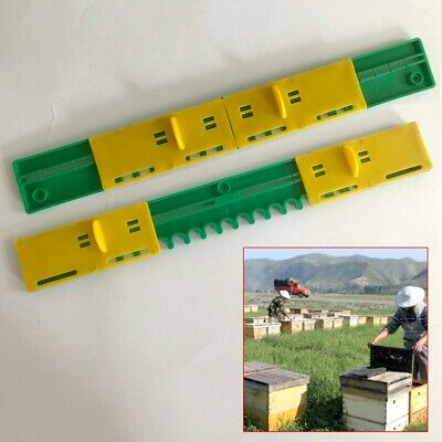 2Pcs Bee Hive Sliding Mouse Guards/Travel Gate Beekeeping Tool Breeding Bee Tool
