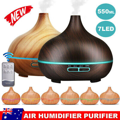 400ml Air Humidifier Purifier Essential Oil Diffuser Aroma Aromatherapy Lamp LED