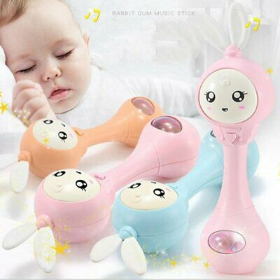 Toddler Baby Kid Early Learning Educational Toy Musical Rattle Teether Stick NEW