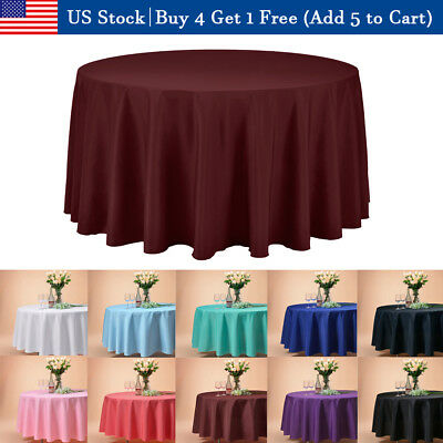"""120"""" Inch Round Tablecloths Table Cover for Wedding Parties Holiday Dinner US"""