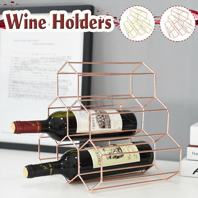 2pcs Wine Rack Metal Bottles Holder Display Shelf Storage Stand Simple Creative