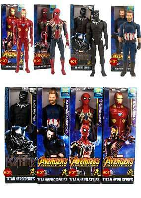 Marvel Avengers Super Hero Spiderman Black Panther Captain UK Action Figure Toys