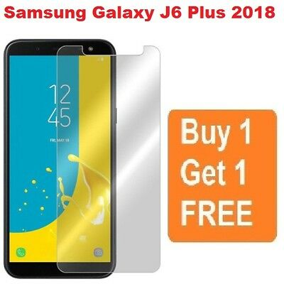 2X For Samsung Galaxy J6 Plus 2018 Tempered Glass Mobile Phone Screen Protector