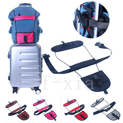Travel Luggage Suitcase Add A Bag Bungee Strap Carry On Adjustable Luggage Belt