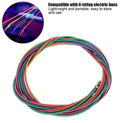 4PC 4-String Colorful Electric Bass Strings .046-.100 Nickel Alloy Steel