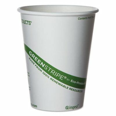 Eco-Products GreenStripe 12-oz. Hot Cups, 1000 Cups (ECOEPBHC12GS)