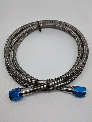 -4AN x 20' Nitrous / Fuel Feed Line Assembly w/ Blue Fittings AN4 AN 4 -04AN