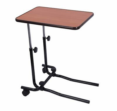 Height Adjustable Overbed Table with Two Wheeled Castors