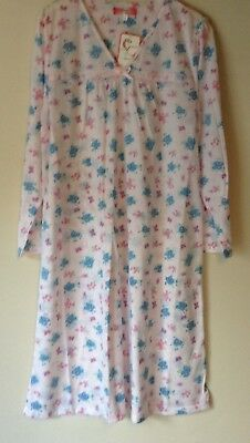 New Ladies Floral  Poly/Cotton Jersey Nightdress Long Sleeve Nightie *Gabrielle*