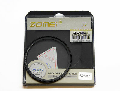 Zomei 62mm UV Ultra-Violet Digital Filter Protector DW1 for 62mm thread UK Stock
