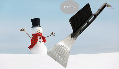 """Ice Scraper With Brush for Car Windshield Snow and Icicle Removal 2 Pack"""""""