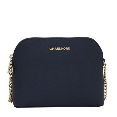 465b7bbb69e625 Michael Kors Cindy Large Dome Crossbody Navy Saffiano Leather Bag MSRP $168
