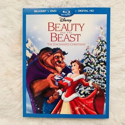 Beauty and the Beast The Enchanted Christmas (Blu-ray+DVD, 2016, 2-Disc Set)