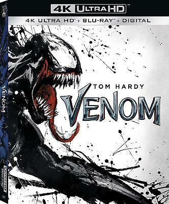 Venom 4K UHD Blu Ray W/Case and Slipcover. NO DIGITAL CODE OR STANDARD BLU RAY