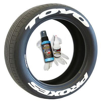 Toyo Proxes (Super Stretched) Permanent Tire Stickers 1.25in -19in-22in Wheels