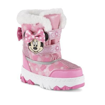 NEW NWT Toddler Girls Disney Minnie Mouse Snow Boots Size 6 7 8 9 10 11 or 12