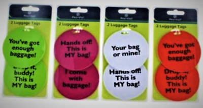 Personalized Protege Luggage Tags Suitcase Carry On Baggage Travel ID Set of 8