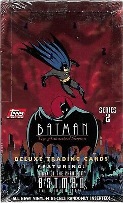 1993 Topps Batman The Animated Series Series 2 Factory Sealed Wax Box 36 Packs