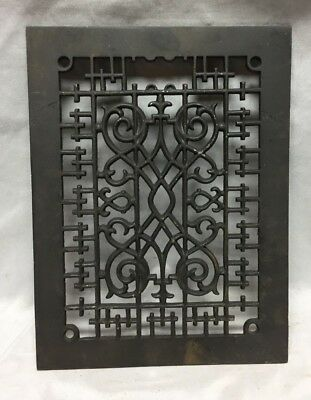 One Antique Rectangular Heat Grate Grill Decorative 9X12 711-18C